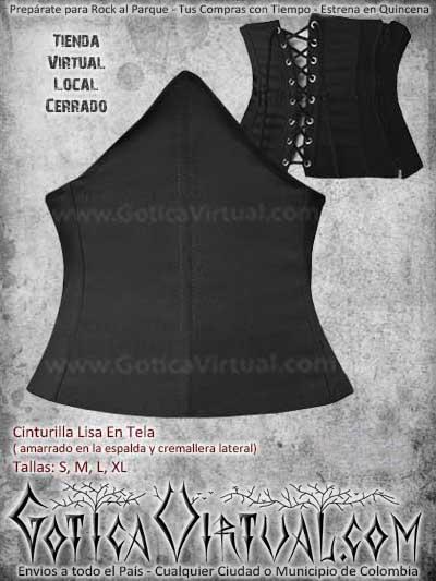 cinturilla lisa tela almacen tienda bogota ropa metalera rockera mujer femenina envios todo el pais cali medellin cucuta manizales tunja villavicencio colombia