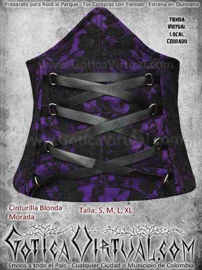 cinturilla morada blonda gotica hermosa economica bogota ventas online envios todo el pais medellin cucuta narino manizales pereira colombia