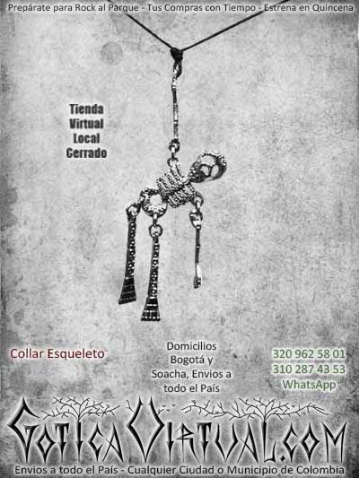 collar esqueleto huesos metal bogota bodega ventas online envios a todo el pais cauca santander tolima sincelejo putumayo codoba