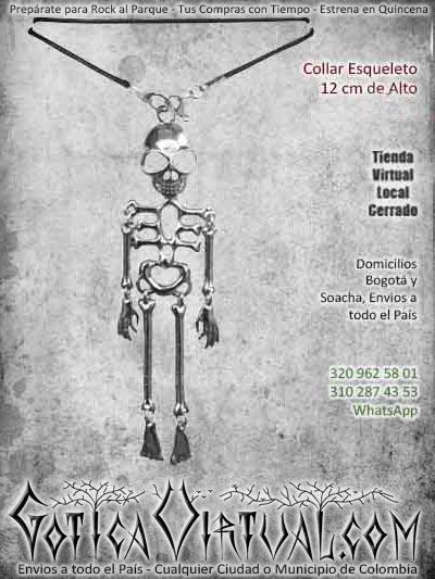 collar esqueleto largo metalico hermoso economico ventas online envios a todo el pais cali medellin cauca sucre tolima popayan santander colombia