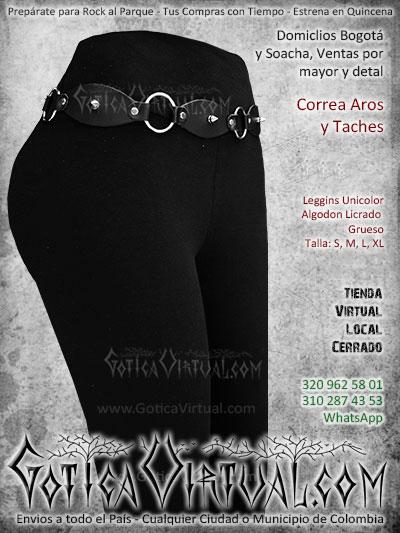 correa aros taches cuero leggins unicolor envios venta online bogota colombia cali tunja arauca cucuta cartagena