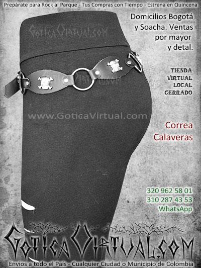 correa calaveras femenina bonita economica enta online envios bogota cali medellin santander quindio cucuta zipaquira colombia