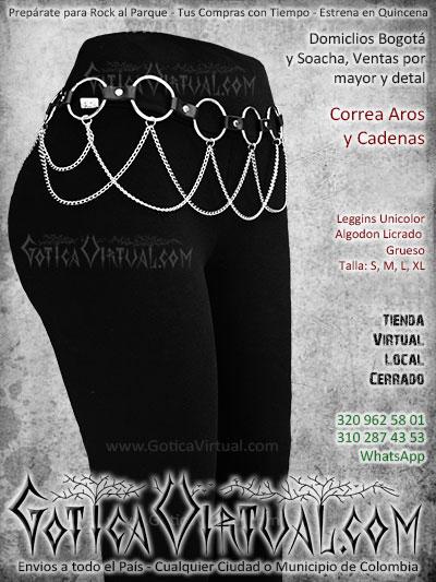 correa cuero aros cadenas mujer leggins unicolor venta envios online bogota cali sincelejo cauca pasto valle colombia