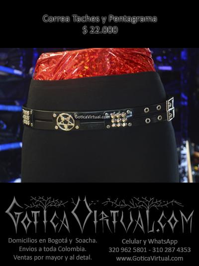 correa taches pentagrama cuero dos lineas unisex tienda online rock metal bogota cauca quindio pasto medellin colombia