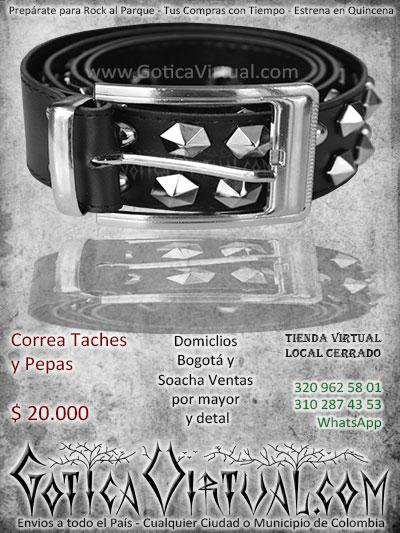 correa pepas bogota rockera metalera cuero accesorios envios envigado chigorodo tunja cucuta armenia pasto bucaramanga cartagena ventas por mayor