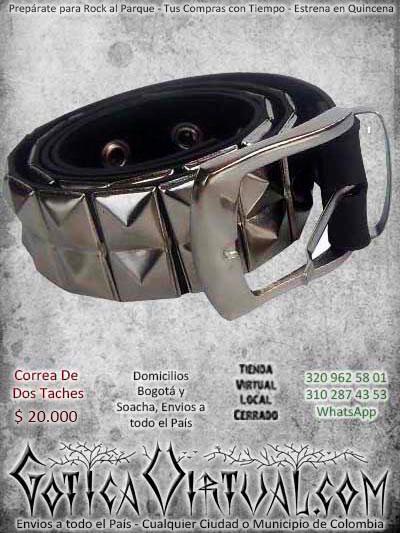 correas dos taches metal metaleras punk ogota ventas online envios a todo el pais cali medellin cucuta neiva cauca popayan colombia