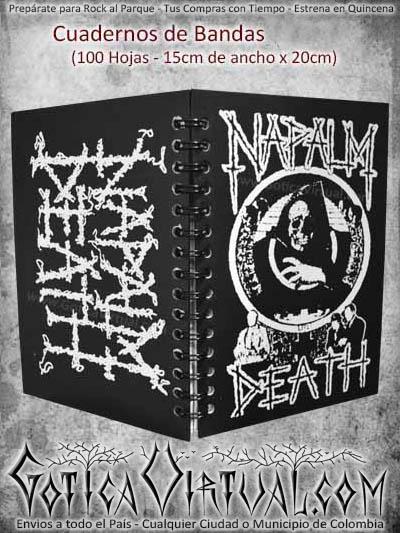 cuaderno bandas napalm death escolar utiles nuevo domicilios colombia bogota cali medellin cucuta popayan