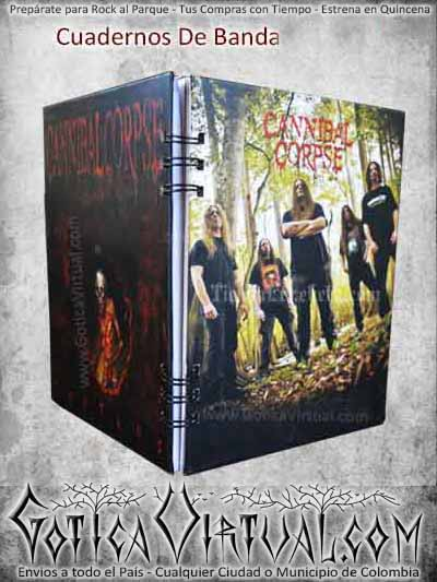 cuaderno canival corpse badas metal rock ventas online envios a todo el pais medellin cucuta neiva rioacha neiva sucre popayan manizales colombia