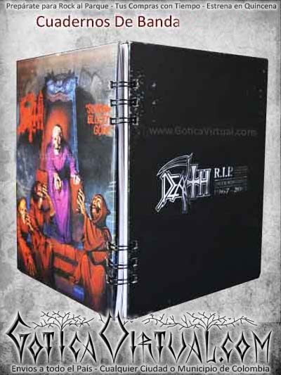 cuaderno death metal black bogota argollado bandas ventas online envios a todo el pais medellin cucuta narino pasto colombia