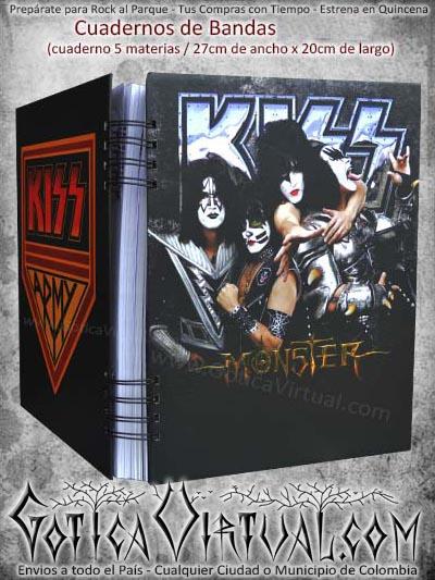 cuaderno libro kiss bandas materias escolar negro domicilios bogota soacha colombia medellin cucuta manizales