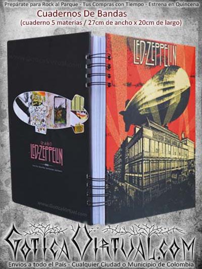cuaderno materias cinco bandas zeppelin escolar domicilio cali colombia medellin pasto cucuta manizales
