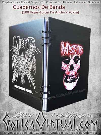 cuaderno misfits metal rocck punk argollado economico ventas online envios a todo el pais cucuta mocoa santader sucre pereira narino tunja sogamozo colombia