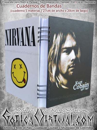 cuaderno nirvana bandas rock libro escolar domicilios soacha bogota cali colombia medellin cucuta santander