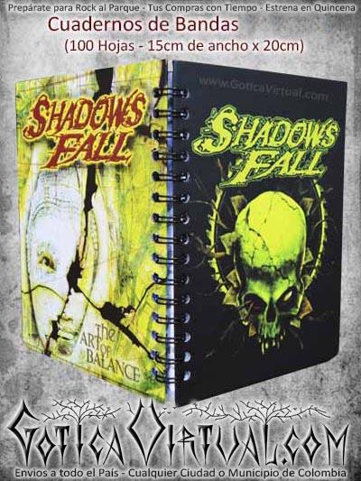 cuaderno shadows fall bandas nuevo domicilios colombia bogota cali medellin cucuta cartagena pasto santander