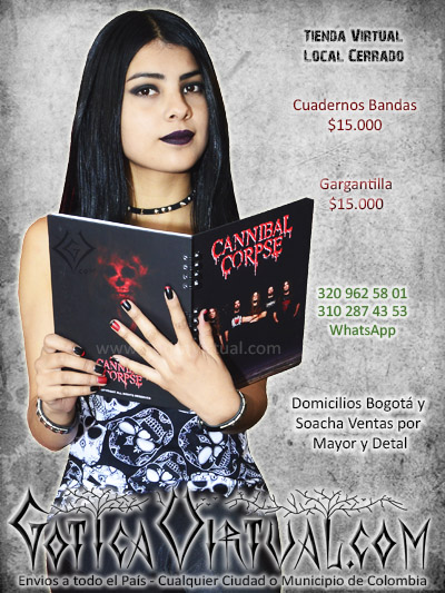 cuadernos cannibal corpse bandas nuevo grandes escolar domicilios colombia soacha bogota cali medellin pasto cucuta