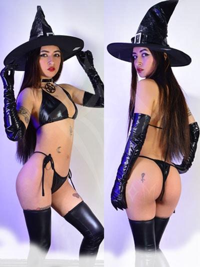 disfraz sexy bruja negro lenceria sombrero erotico sensual pasion parejas bogota colombia putumayo leticia vaupes meta villavicencio