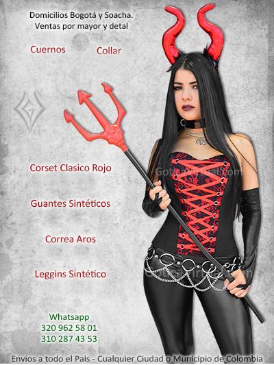 disfraz diabla chica demonio economico venta online tienda bogota manizales santander funza cucuta yopal meta colombia