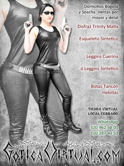 disfraz trinity matrix femenino sexy bonito venta online envios manizales villavicencio zipaquira quindio valle colombia