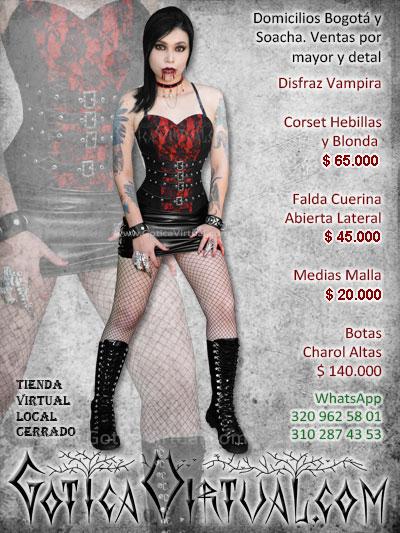 disfraz vampira sexy economico bonito venta online envios bogota cali medellin santander quindio armenia cali valle colombia