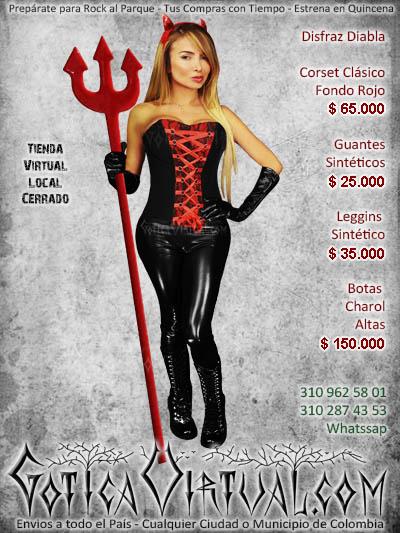 disfraz diabla corset leggins