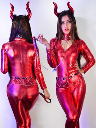 disfraz enterizo fullbody diabla ajustado sensual talla unica divertida bogota cali pereira medellin manizales popayan villavicencio