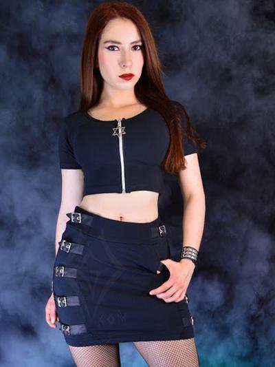 linda falda algodon negro licrado strech tiro alto rockero ropa rock domicilios bogota soacha envios nacionales