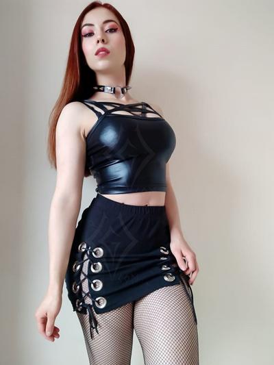linda falda ojales grandotes grandes laterales cordones ajustables color negra algodon licrado envios nacionales domicilios bogota soacha