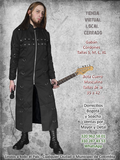 gaban cordones masculino ropa prendas accesorios tienda online rock metal boutique bogota chia caldas funza quibdo pereira colombia
