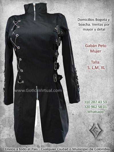 gaban femenino largo dril negro economico bonita cadenas hebillas licrado venta online domicilios bogota tunja narino antioqua caldas colombia