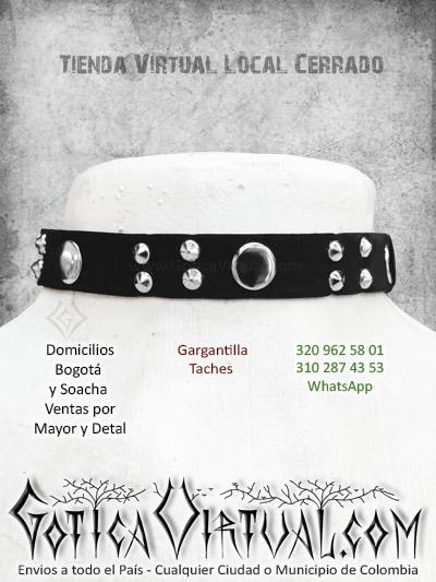 accesorios gargantillas cuello femenina terciopelo tienda online gotica bogota manizales sincelejo popayan santander guajira colombia