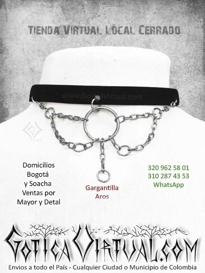 gargantilla aros cadenas terciopelo femenina collar tienda online bogota sincelejo tunja chia pereira bicaramanga zipaquira colombia