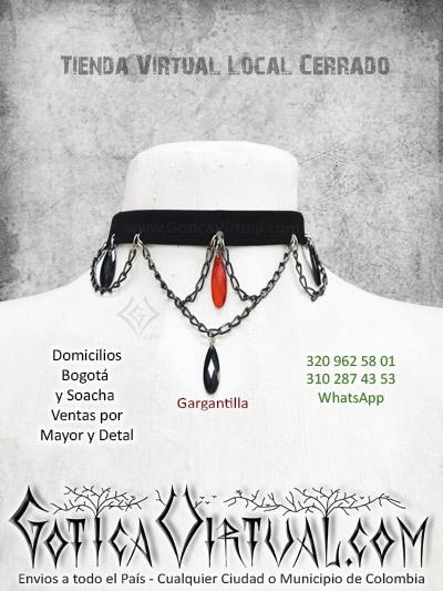 gargantilla collar femenino rockero metalero tienda online boutique bogota cali tunja chia pereira armenia monteria yopal colombia