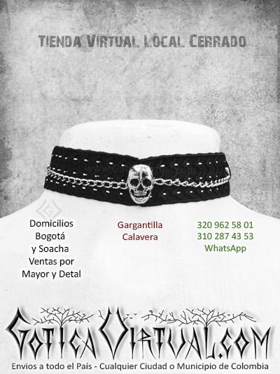 gargantilla taches calaveras tienda online rock metal bogota huila cauca chia monteria yopal sucre casanare colombia
