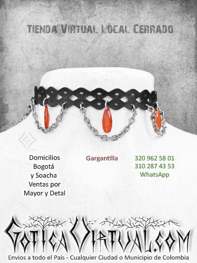 gargantilla dojes rojos cadenas tienda online rock metal bogota huila cesar sucre tolima chia bucaramanga cali colombia