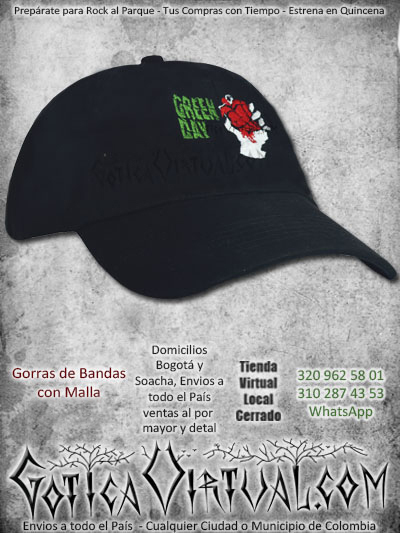 gorra cachucha bandas green day bodega venta online envios bogota manizales quindio pereira colombia