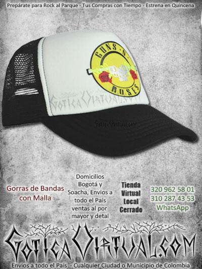gorra gunsnroses bandas economica malla negra venta online envios bogota cali valle meta villavicencio cauca pereira colombia
