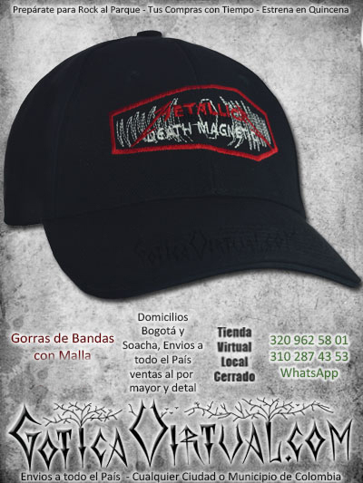 gorra metallica bandas economica malla negra venta online envios bogota armenia calii sincelejo cucuta manizales colombia