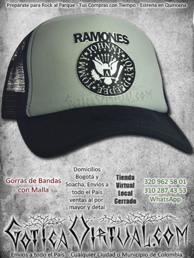 gorra ramones bandas economica malla negra venta online envios bogota cali valle meta villavicencio cauca pereira colombia