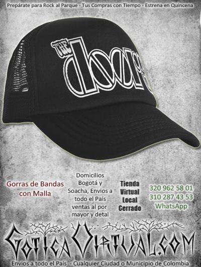 gorra the doors bandas economica malla negra venta online envios bogota cali valle meta villavicencio cauca pereira colombia