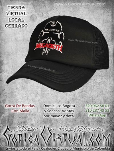 gorra megadeth bandas economica malla negra venta online envios bogota cali valle meta villavicencio cauca pereira colombia