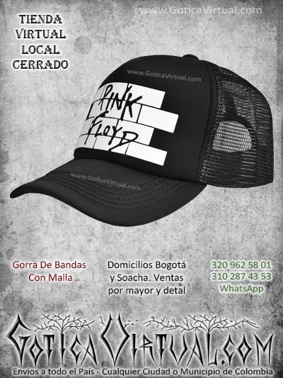 gorra pin floyd bandas economica malla negra venta online envios bogota cali valle meta villavicencio cauca pereira colombia