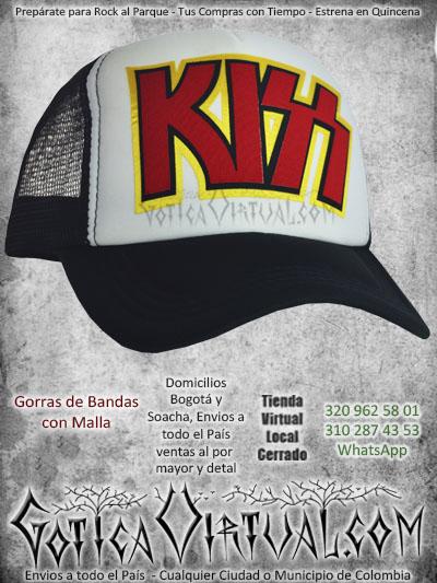 gorra kiss bandas economica malla negra venta online envios bogota cali valle meta villavicencio cauca pereira colombia