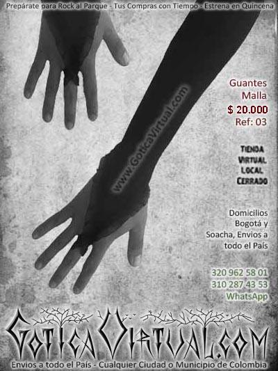 guantes malla negros encaje largos bonitos economicos ventas online envios a todo el pais cali medellin cucuta yopal neiva cartago putumayo popayan barranuilla sucre tolima manizales rioacha colombia