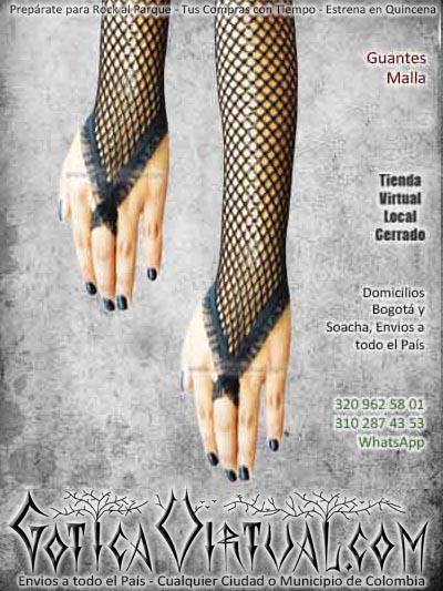 guantes negros malla largos goticos rockero huecos bogota ventas online envios a todo el pais cali popayan huila mocoa valledupar villavicencio zipaquira cota cucuta yopal colombia