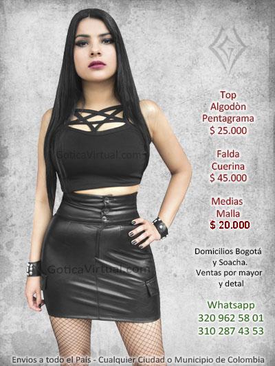 77fb6e04a Faldas rockeras metaleras drill algodon velo domicilios en Bogota y ...