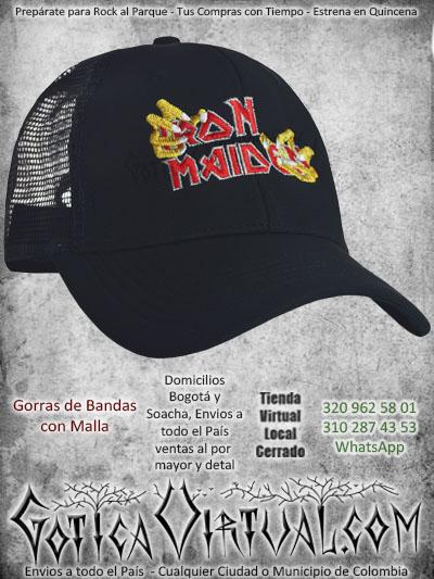 gorra iron maiden bandas economica malla negra venta onlin envios bogota cali valle meta villavicencio cauca pereira colombia