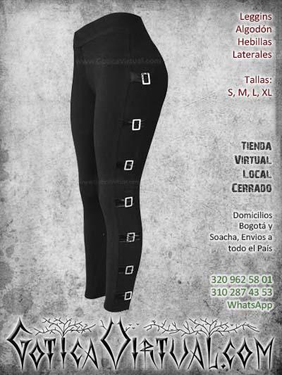 leggins algodon hebillas laterales negro comodo bonito econimico bogota mujer femenino ventas online envios todo el pais cali medellin cucuta narino manizales colombia