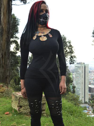 leggins algodon velo pentagram rock metal black gotico colombiano producto nacional bogota colombia envios domicilios casanare valledupar pasto boyaca quindio