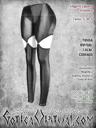 leggins liguero sintetico negro pvc cuerina bogota mujer femenino baratos economico ventas online envios todo el pais medellin cucuta narino popayan villadeleyva colombia