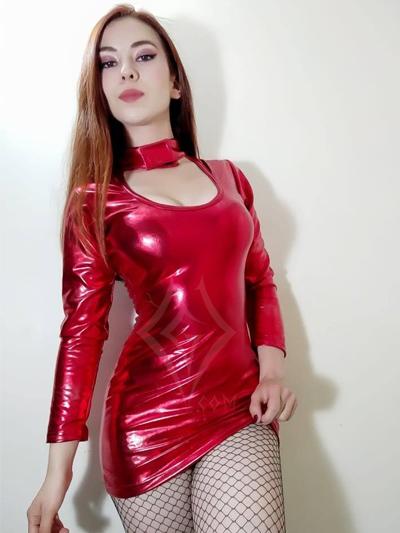 lindo vestido rojo velcro lame sintetico manga larga brillante ajustable licrado strech comodo sexy envios nacionales domicilios bogota soacha